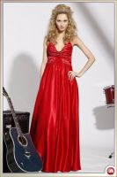 Sell red wedding strapless wedding gown
