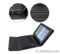 Leather Cover For Ipad2 - With Bluetooth Keyboard - Black