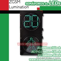 LED Traffic Lights with Countdown 2-Digit Timer (RX300-3-Z-GSM-2-A)