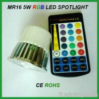 Sell MR16 5W RGB LED Spotlight with remote