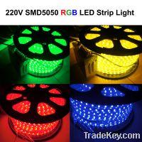 Wholesale Waterproof IP67 220V SMD5050 RGB LED Strip Light