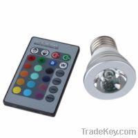 Sell E27 3W RGB LED Spotlight with remote Control