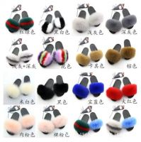 COOLSA Women's Furry Slippers Ladies Cute Plush Fox Hair Fluffy Slippers Women's Fur Slippers Winter Warm Slippers for Women Hot