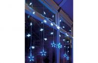54 Blue and White Led Star Curtain Light,christmas lights