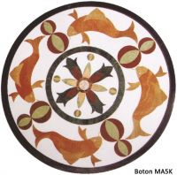 Sell Marble Mosaic Pattern Medallions Waterjet Inlay Round - MA5K