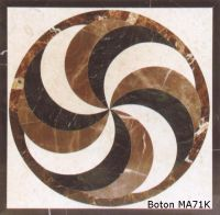 Square marble medallion/ waterjet inlay/ mosaic pattern - MA71K