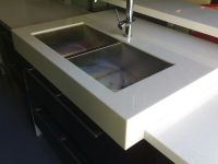 White Compressed Stone Countertop/ Vanities/ Cabinet top - CPX03