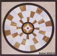 Square stone medallion/ waterjet inlay/ mosaic pattern - MA27K