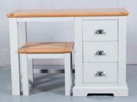 Tynedale White 3 Drawer Dressing Table