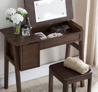 Oak Dresser w/Storage and Mirror