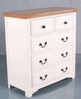 White 2 over 3 Drawer Dressing Table