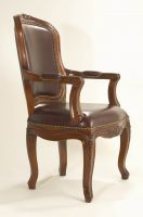 Sell Hand Carved Armchair In Bycast Leather