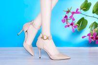 6249 new fashion elegant high thin heels black pink color sandals women ladies stilettos pointed-toe high heels women pump party wedding shallow mouth sandals