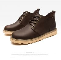 Paizhe-22015 Crazy horse casual sneaker wholesale Black and Brown shoes