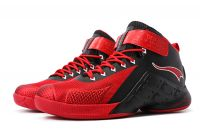 Onemix-1133 High Top Basketball Shoes Black and Red Sports Shoes Gym Boots Athletic Shoes