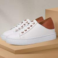 8870 Girl white/black customize casual fashion leather/pu walking shoes