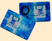 security combi-card with LF+HF, or UHF+LF/HF, or contact +contactless
