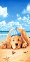 Sell reactive printed beach towel, towel