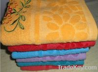 Sell 100%cotton embroidered jacquard and velvet towels