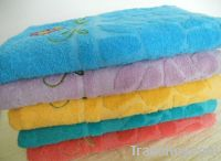 100%cotton jacquard and embroidered bath towels