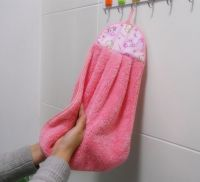 Hanging microfiber kitchen towel