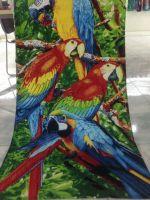 Parrot print beach towel