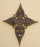 Sell wrought iron- metal cross