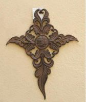 Sell wrought iron-metal cross qy7002