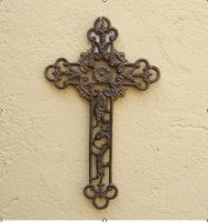 Sell wrought iron-metal cross qy7004