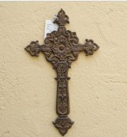 Sell wrought iron-metal cross qy7005
