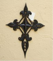 Sell wrought iron-metal cross qy7011