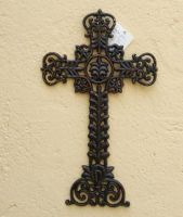 Sell wrought iron-metal cross qy7012