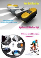 wireless Bluetooth Bike MP3 Speaker and LED Light