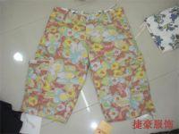 Sell plaid pants polyester pants , shorts , overall pants