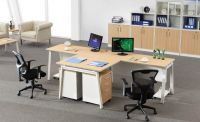 modern two person office table workstation furniture, #NT-25