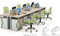 modern 6 seater office table workstation furniture, #JO-6008-6