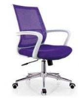 white frame purple medium back office mesh swivel chair furniture, #762B