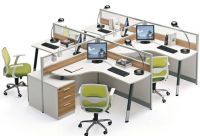 Wholesale office workstation for 4 people made in Foshan, call center, #