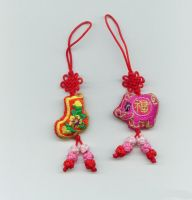Sell embroidery chinese knot mobile phone pendant, phone chain(MH-P036)