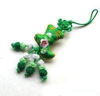 Sell embroidery chinese knot mobile phone pendant, phone chain(MH-P034)