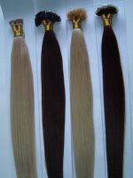 Sell keratin pre tip hair extensions hair weft