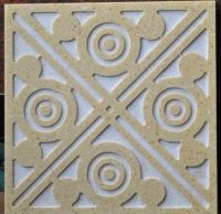 Marble medallion, water-jet carved lines - 3