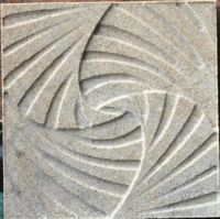 Marble medallion, water-jet carved lines -5