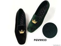 Velvet loafer slippers