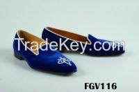 Custom monogrammed velvet slippers
