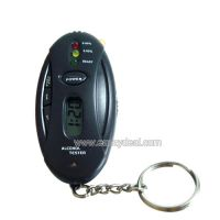 Alcohol Breath Tester With LED Flashlight Key Chain