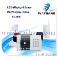 Sell 8 zones LED display PSTN wireless home alarm system