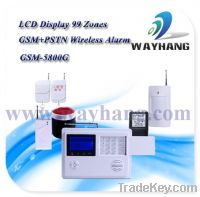 Sell 99 Zones Wireless GSM&PSTN Network Intelligent Alarm System