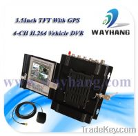 Sell 4CH H.264 GPS Mobile DVR Support 2TB HDD&32GB SD Card