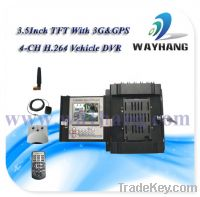 Sell 4 CH H.264 Vehicle DVR with GPS and 3G